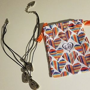 Brighton Brazilian Multi Charm Necklace/dust bag